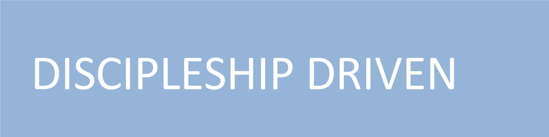 Discipleship Driven