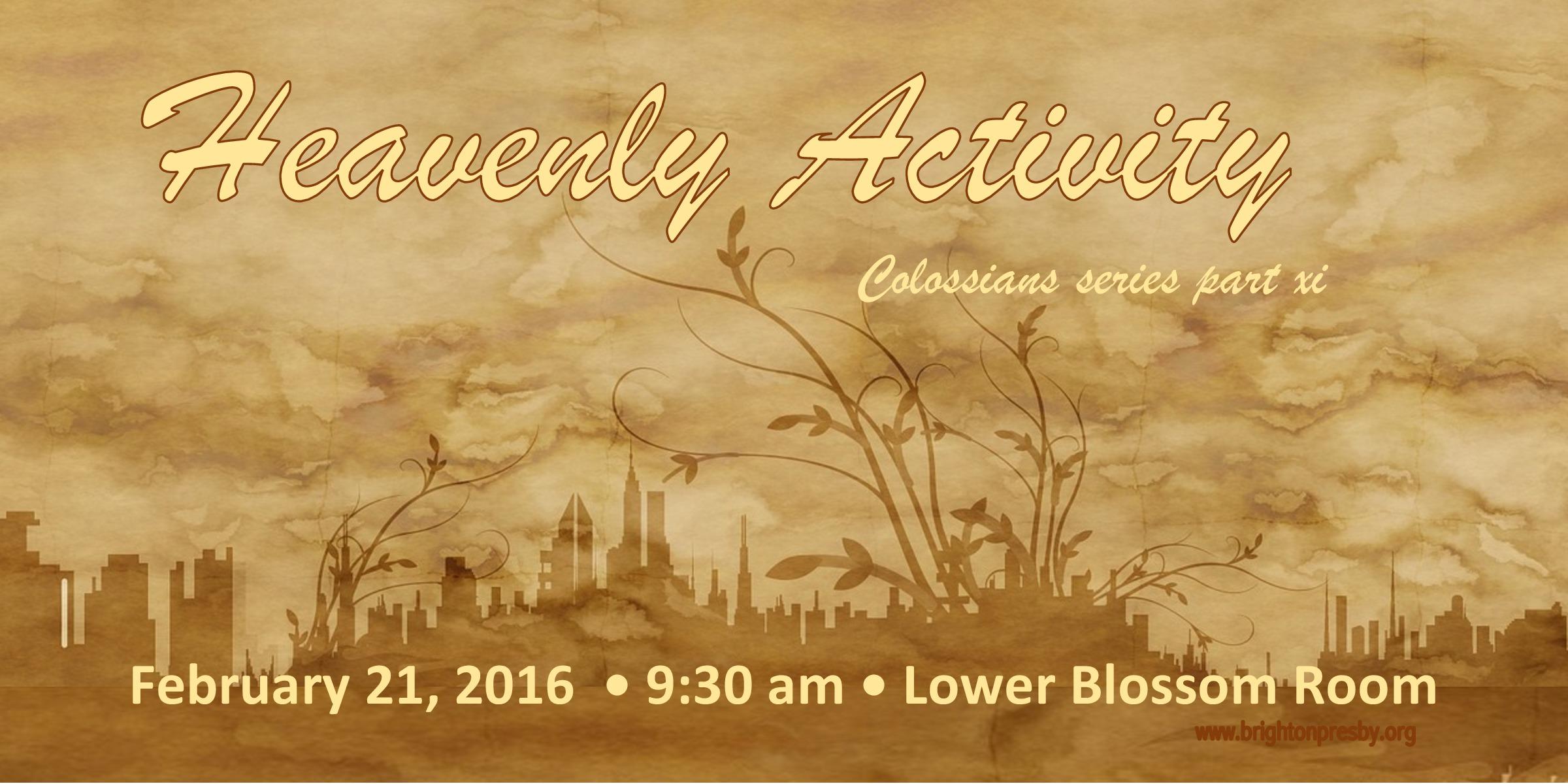 Heavenly Activity