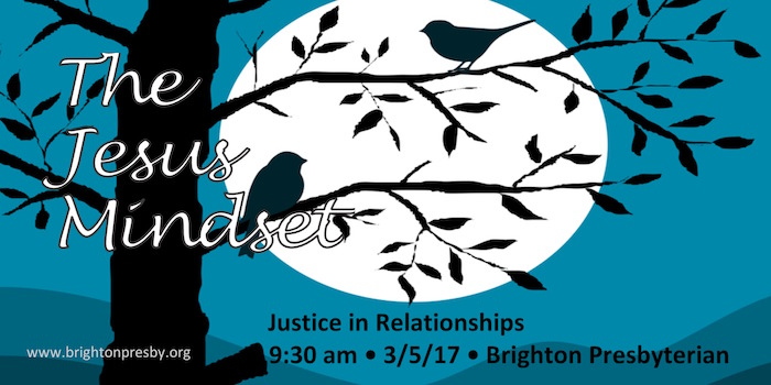 The Jesus Mindset: Justice in Relationships