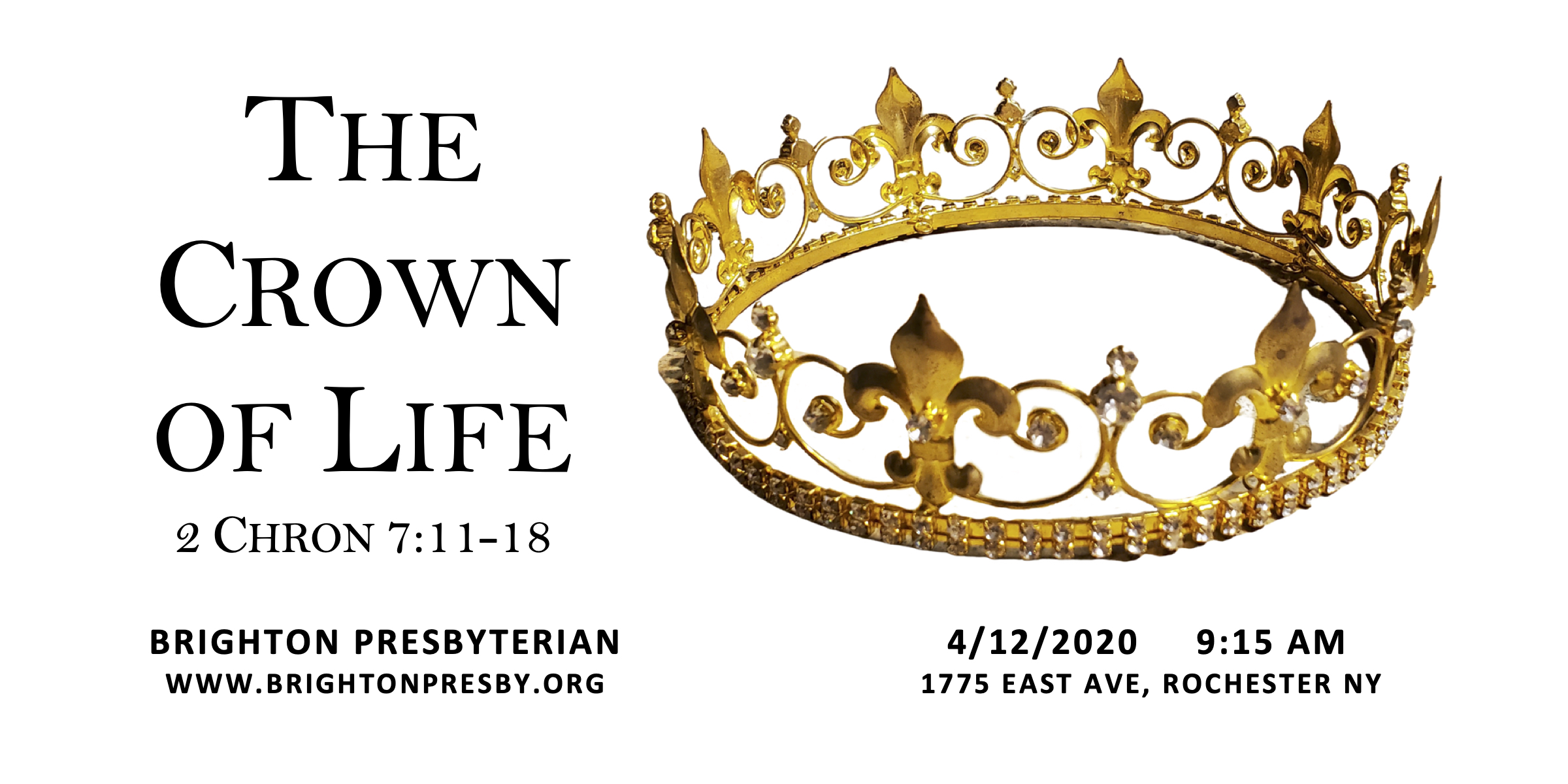 The Crown of Life (Easter Worship Service 2020)