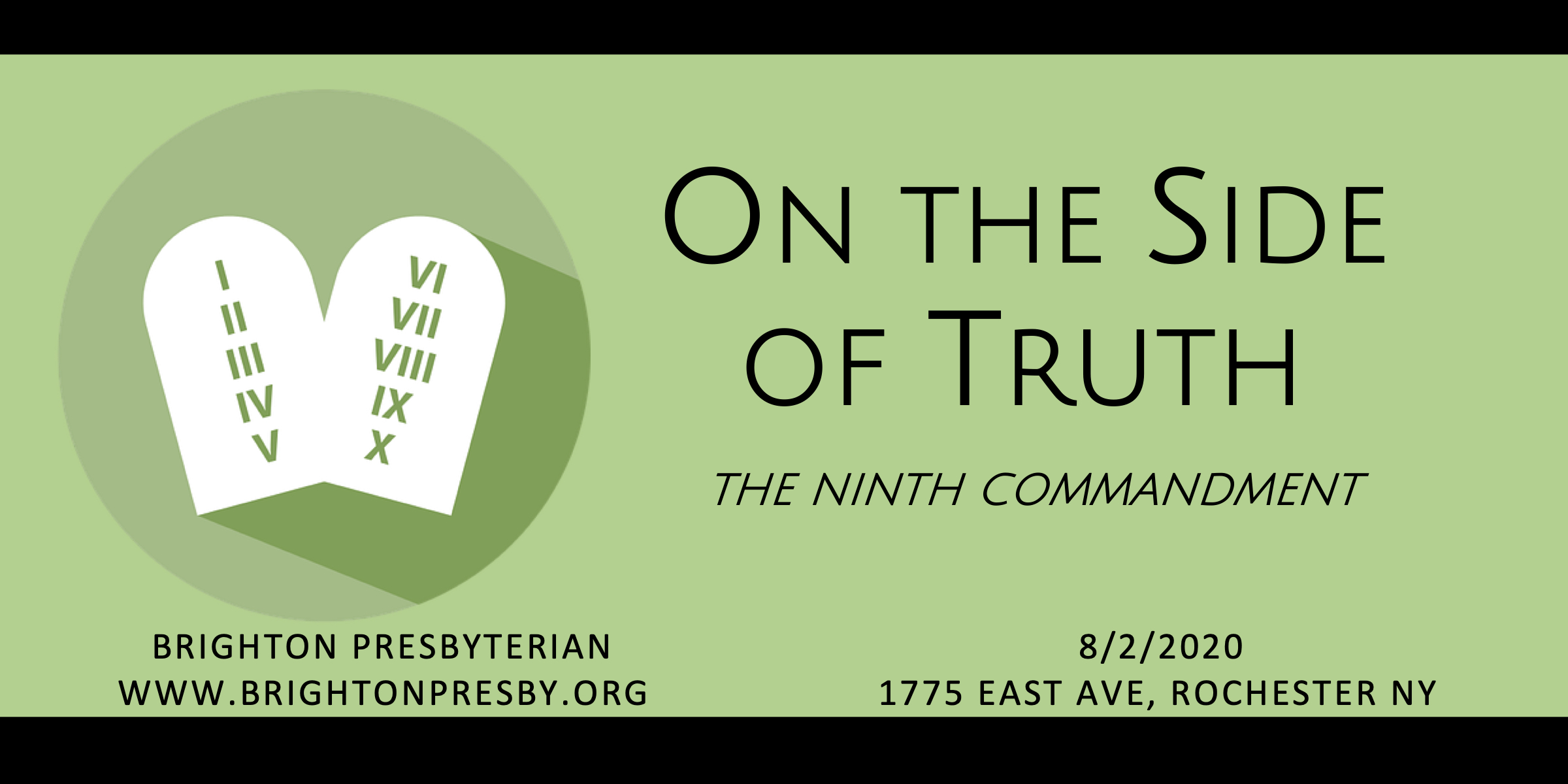 On the Side of Truth (The Ninth Commandment)