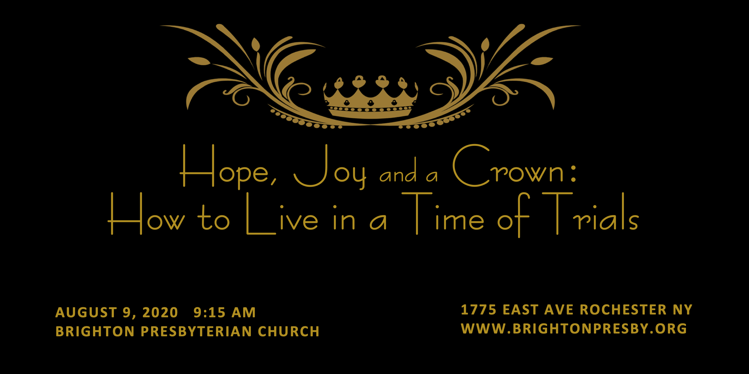 Hope, Joy and a Crown: How to Live in a Time of Trials (Part 4 of 1 Thess. Series)