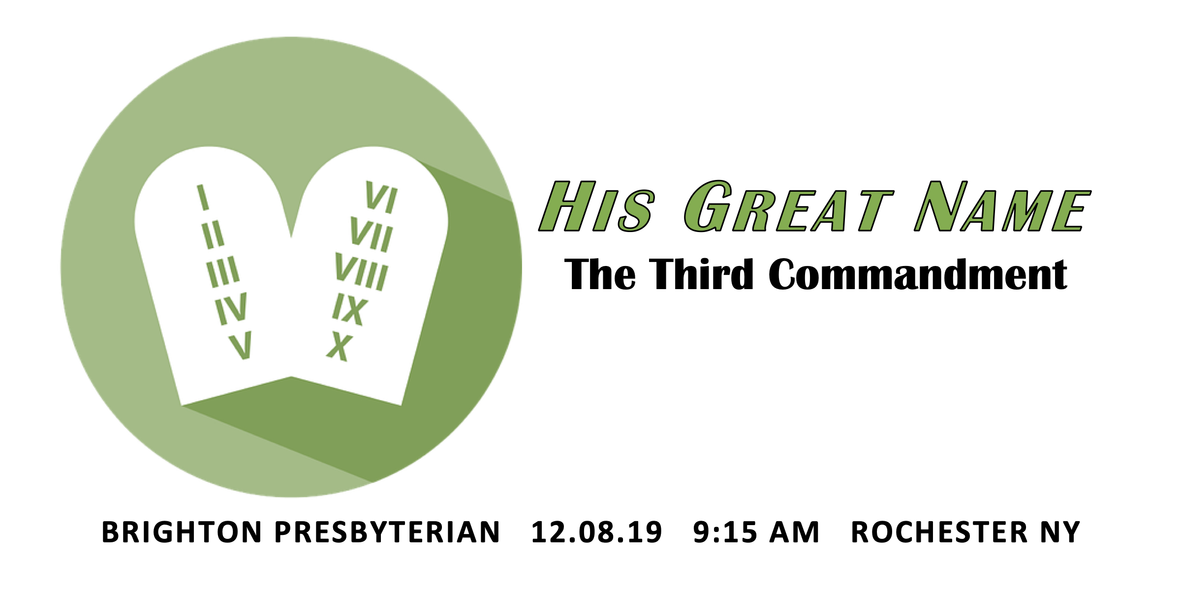 His Great Name: The Third Commandment