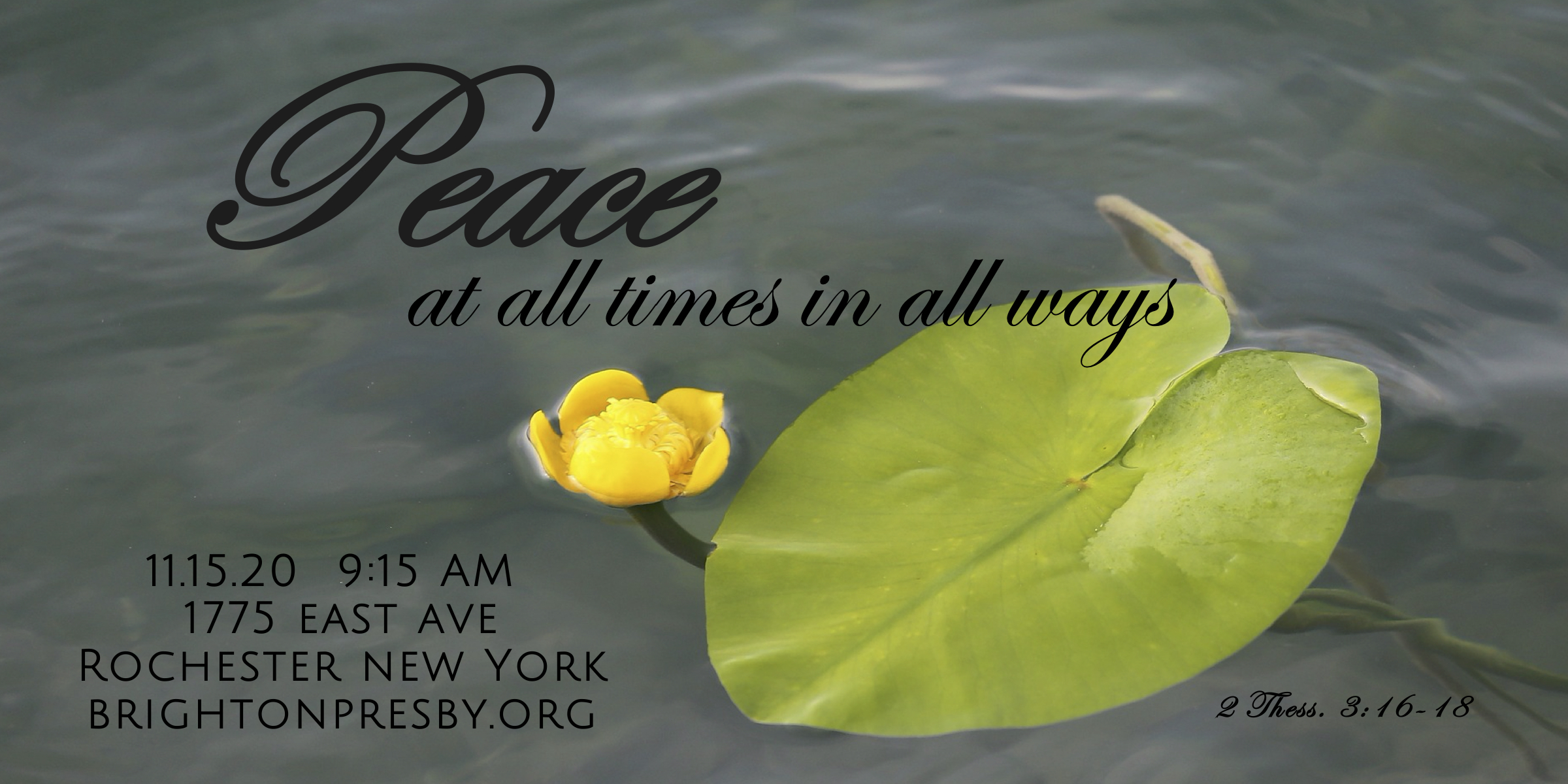 Peace at All Times in All Ways