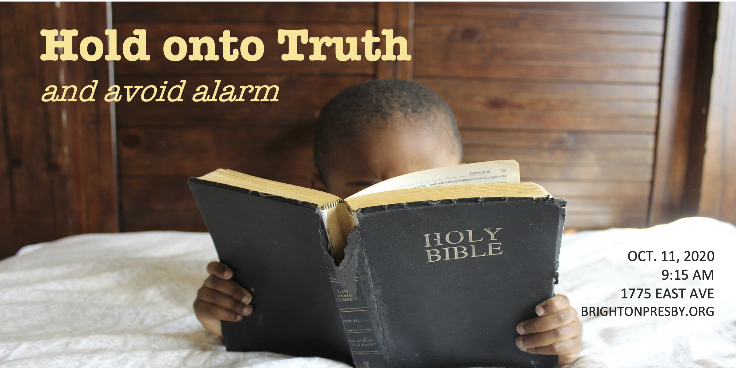 Hold onto Truth and Avoid Alarm (Part 9 of Thessalonians Series)