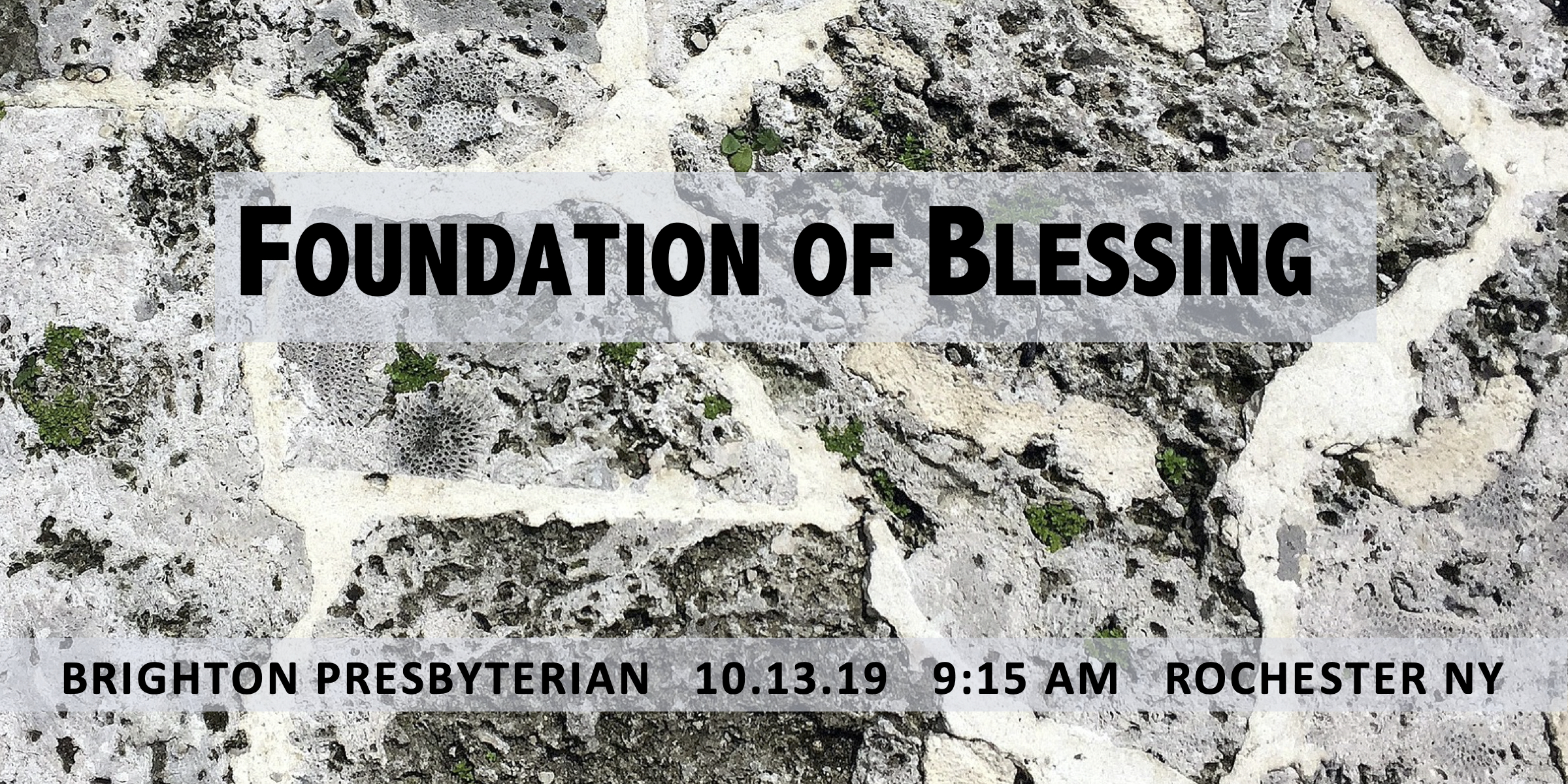 Foundation of Blessing