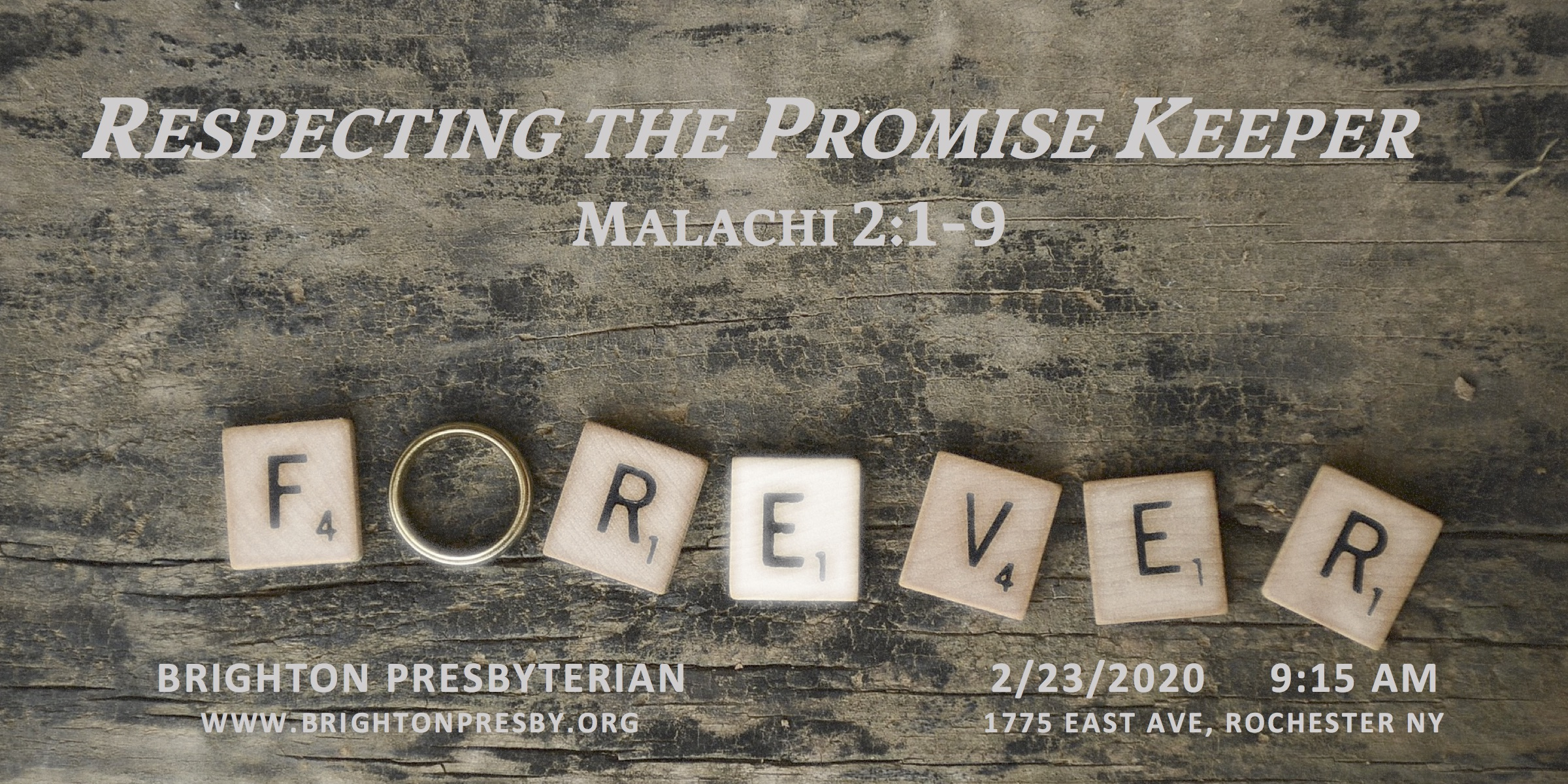 Respecting the Promise Keeper